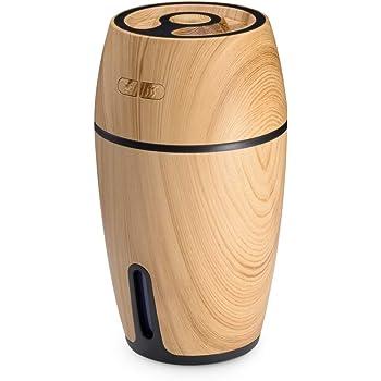 ISTORA 加湿器 超音波式 卓上加湿器 加湿器 木目調 大容量 USB 超静音 除菌 七色LEDライト 空焚き防止 オフィス 車載 省エネ 花粉対策 乾燥防止 日本語説明書付き 一年間保証 (ナチュラル)