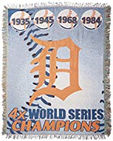"""MLB Detroit Tigers記念Woven Tapestry Throw、48"""" x 60"""""""