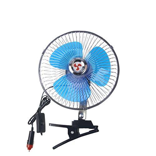 車載扇風機 簡単使用 角度調節 車中泊 6インチ 8インチ ...