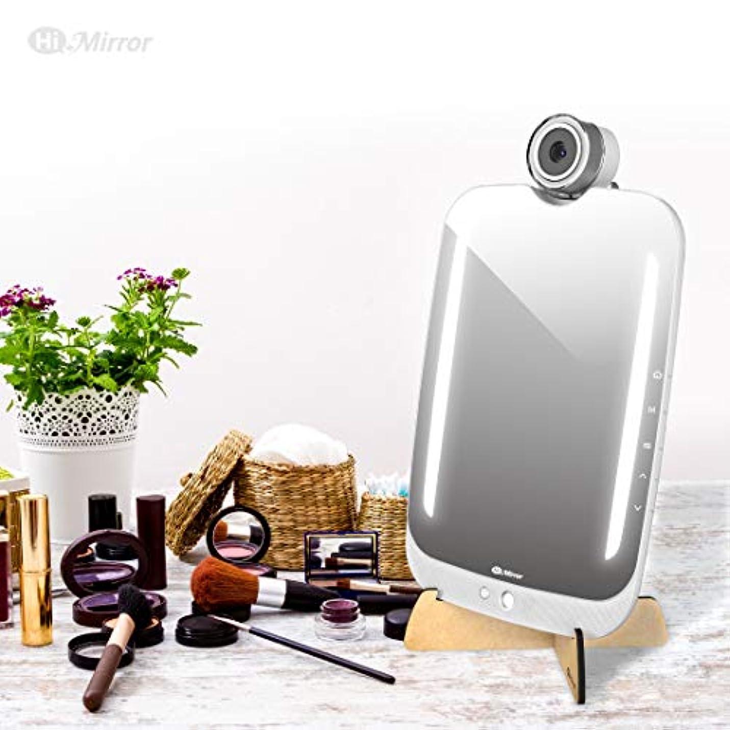 HiMirrorプラス-デバイス型ビューティミラー、メイクアップシミュレーションAR新機能搭載、高精度カメラ機能とアプリケーションによる肌分析 BM618RC00AB