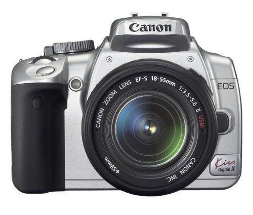 Canon デジタル一眼レフカメラ EOS Kiss デジタル X ダブルズームキット シルバー KISSDXS-WKIT