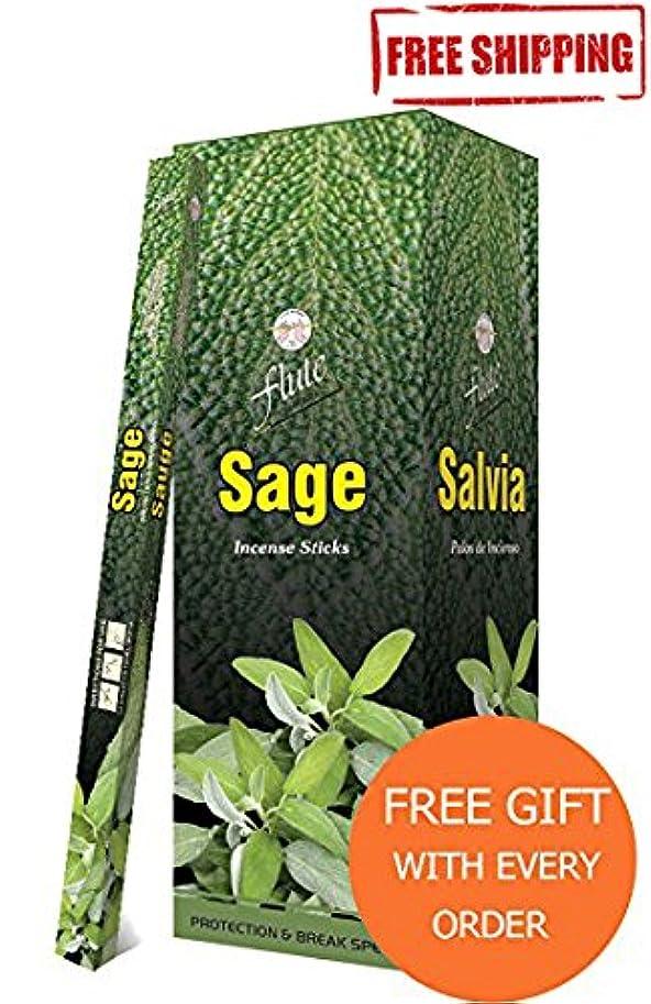 ワーカー自明学期Incense SticksフルートセージAgarbatti 200 Sticks Squareパケット