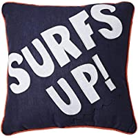 Pem America Catch a Wave Surfs Up Pillow- Blue by Pem America [並行輸入品]
