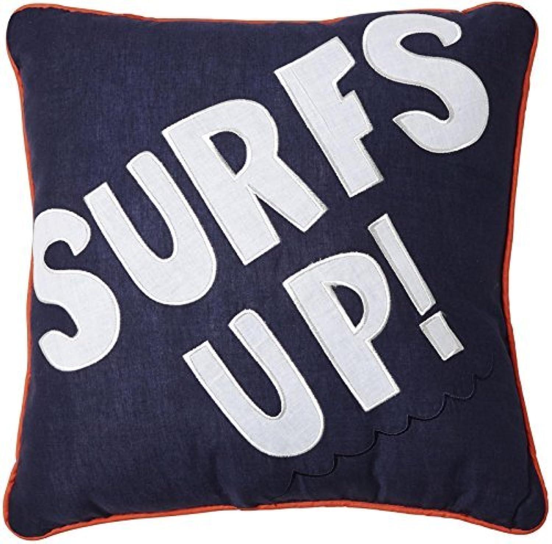Pem America Catch a Wave Surfs Up Pillow- Blue by Pem America [並行輸入品]