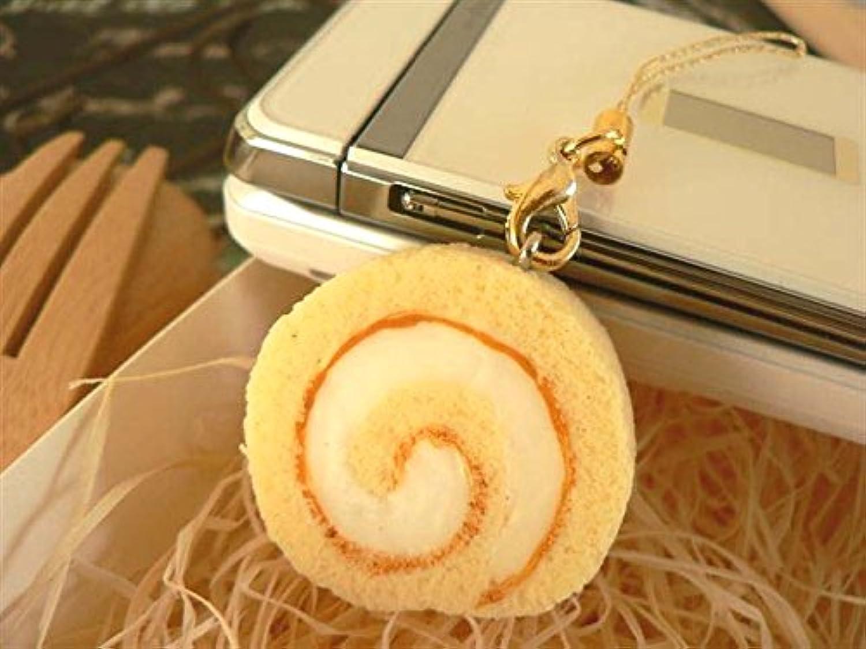 食品サンプル屋 食品サンプル 携帯ストラップロールケーキ 白 02P03Dec16