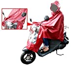 モンベル メンズ ジャケット life_mart 全身すっぽり バイクポンチョ タイプ レインコート レッド 自転車 フリーサイズ 男女兼用 雨天の通勤通学 カッパ
