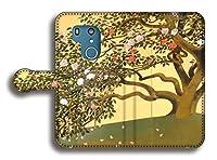 手帳型 スマホケース 【世界の名画】 速水御舟 ☆日本画☆ 絵画 芸術 アート 和 おしゃれ Xperia Galaxy AQUOS Google Pixel arrows HUAWEI (arrows Be3, 名樹散椿図)