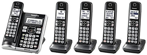 [해외]Panasonic kx-tg785sk link2cell bluetoothcordless 전화 음성 Assist 자동 응답 시스템 - 5 핸드셋 (인증 Refurbished)/Panasonic kx - tg 785sk link 2 cell bluetoothcordless Telephone voice Assist and answering machine - 5 handsets (certi...