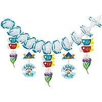 子供の日装飾 鯉のぼりとかぶと金太郎ガーランド L180cm 7271