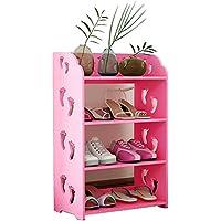 シューズラック- 靴ラックキャビネットクリエイティブ彫刻オーガナイザー棚多機能防塵4段引き出し付き靴ラックの組み合わせ44 * 24 * 66cm