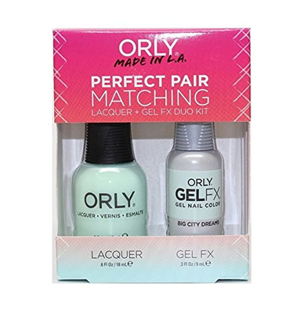 打倒消毒剤イブOrly - Perfect Pair Matching Lacquer+Gel FX Kit - Big City Dreams - 0.6 oz / 0.3 oz