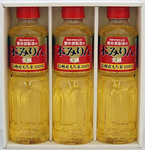 養命酒製造 「家醸本みりん」ギフト3本セット [ 長野県 500ml×3本 ] [ギフトBox入り]