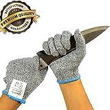 UncleHu 耐切創手袋 防刃手袋 カットレベル5 防刃グローブ 耐切創グローブ 軍手 耐摩耗性 耐摩レベル3 作業用 左右セット (ショート) 料理用手袋 xmrsy0902 Lサイズ