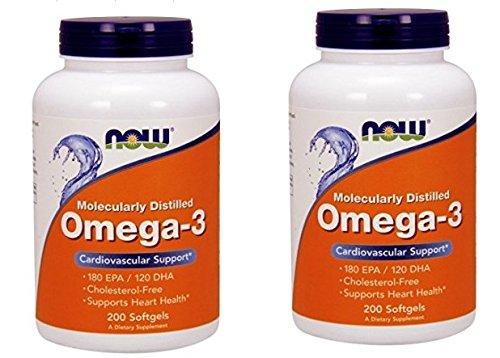 【バリュー2本セット】[海外直送品] NOW Foods 【お得サイズ】オメガ3 1000mg 200粒 Omega-3 200softgels