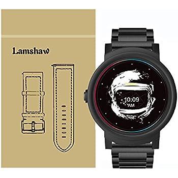 Lamshaw Ticwatch E バンド, ステンレス メタル 高品質 ベルト 交換バンド 対応 Ticwatch E 腕時計 (ブラック)