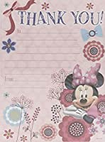 Minnie Mouse Pack Of 20 Thank You Sheets With Envelopes