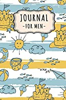Journal Notebook for Men: Beach Lined Daily 6x9 Journal / Notebook for Men | 109 Pages