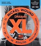 D'Addario ESXL110 ニッケル ダブルボールエンド Regular Light (10-46) ダダリオ エレキギター弦 ESXL-110 【国内正規品】