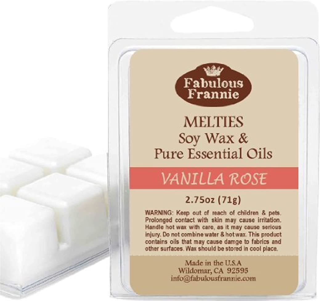 緯度右反対にVanilla Rose 2.5oz of 100% Pure & Natural Soy Candle Meltie/Tart/Melts made with Pure Vanilla & Palmarosa Essential...