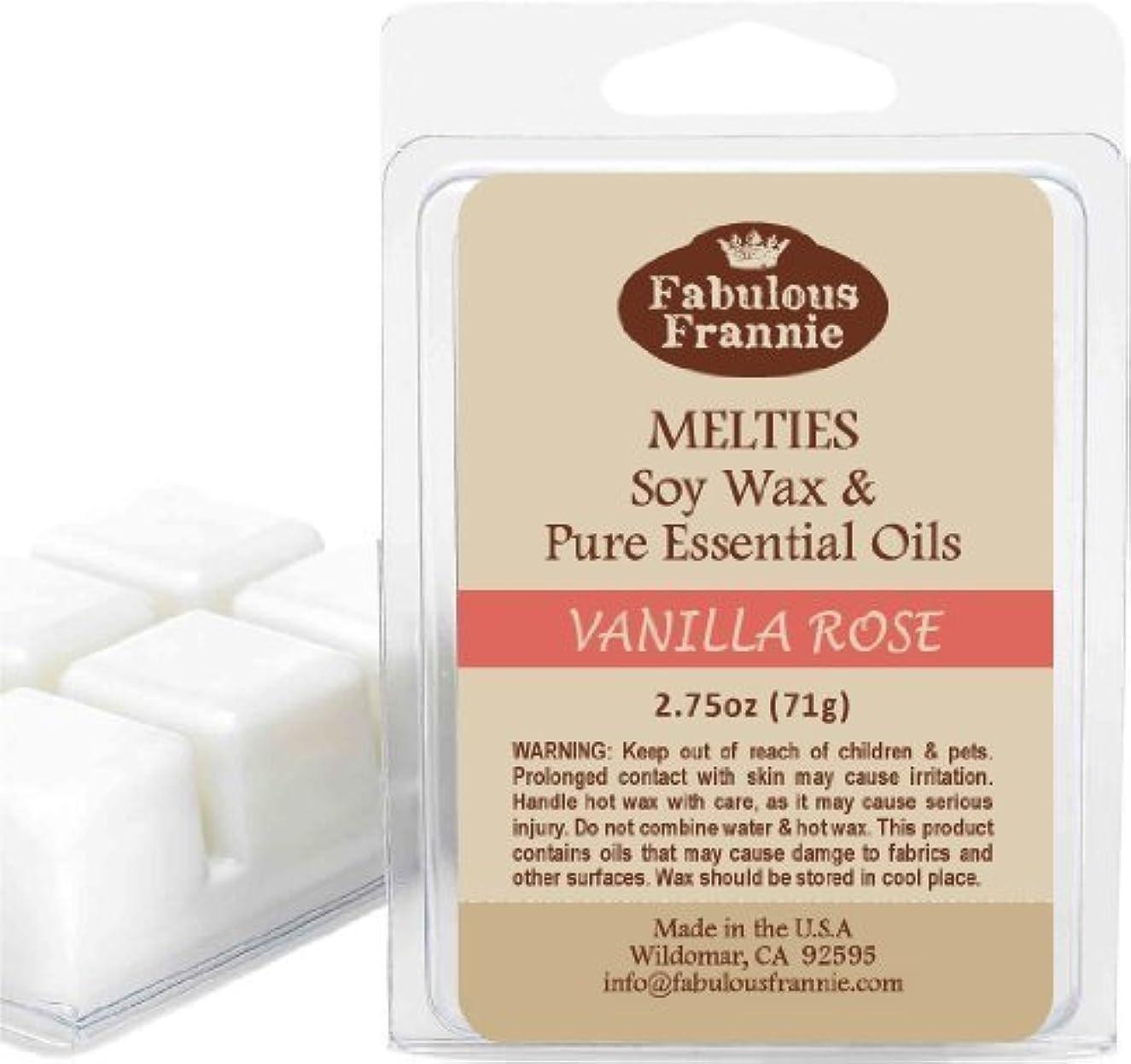 半導体ボイコットペンスVanilla Rose 2.5oz of 100% Pure & Natural Soy Candle Meltie/Tart/Melts made with Pure Vanilla & Palmarosa Essential...