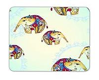 レトロ象マウスパッド、天然ゴムマウスパッド、品質クリエイティブwrist-protected Wristbands Personalizedデスク、マウスパッド( 9.5インチx 7.9インチ)
