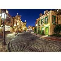 絵画風 壁紙ポスター (はがせるシール式) ディズニーランド カリフォルニア 夜景 ストリート キャラクロ DNLC-005A1 (A1版 830mm×585mm) 建築用壁紙+耐候性塗料