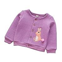 cc6749ed9973f Tovadoo 子供服 ベビー服 女の子 ジャケット アウター 秋冬物 長袖 プリンセス 防寒 柔らかい ウサギ柄 可愛い