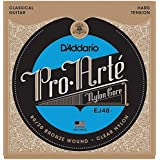 D'Addario EJ48 80/20 Bronze Pro-Arte Nylon Classical Guitar Strings, Hard Tension