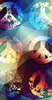 ポスター ウォールステッカー 長方形 シール式ステッカー 飾り 60×31cm Msize 壁 インテリア おしゃれ 剥がせる wall sticker poster クール カラフル ピース 模様 008654