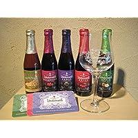 ベルギーフルーツビール リンデマンス5種類と専用グラスセット(new)
