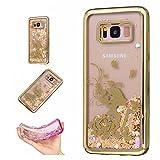 Samsung Galaxy S8携帯電話ケースカバーカラフルなパターンSevenPanda Samsung S8フレキシブルなソフトケースフローティングダイナミック液晶カバーとシャインスパークルブリンブリンSamsung Galaxy S8 - プリンセス