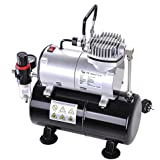 Yescom 1/6HP Air Compressor with 3L Tank Pressure Regulator Spray Gun Air Brush
