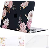 MOSISO MacBook Air 13 Case (A1369&A1466,Older Version 2010-2017 Release), Pattern Plastic Hard Shell&Keyboard Cover&Screen Protector Only Compatible with MacBook Air 13 Inch, Peony Blossom