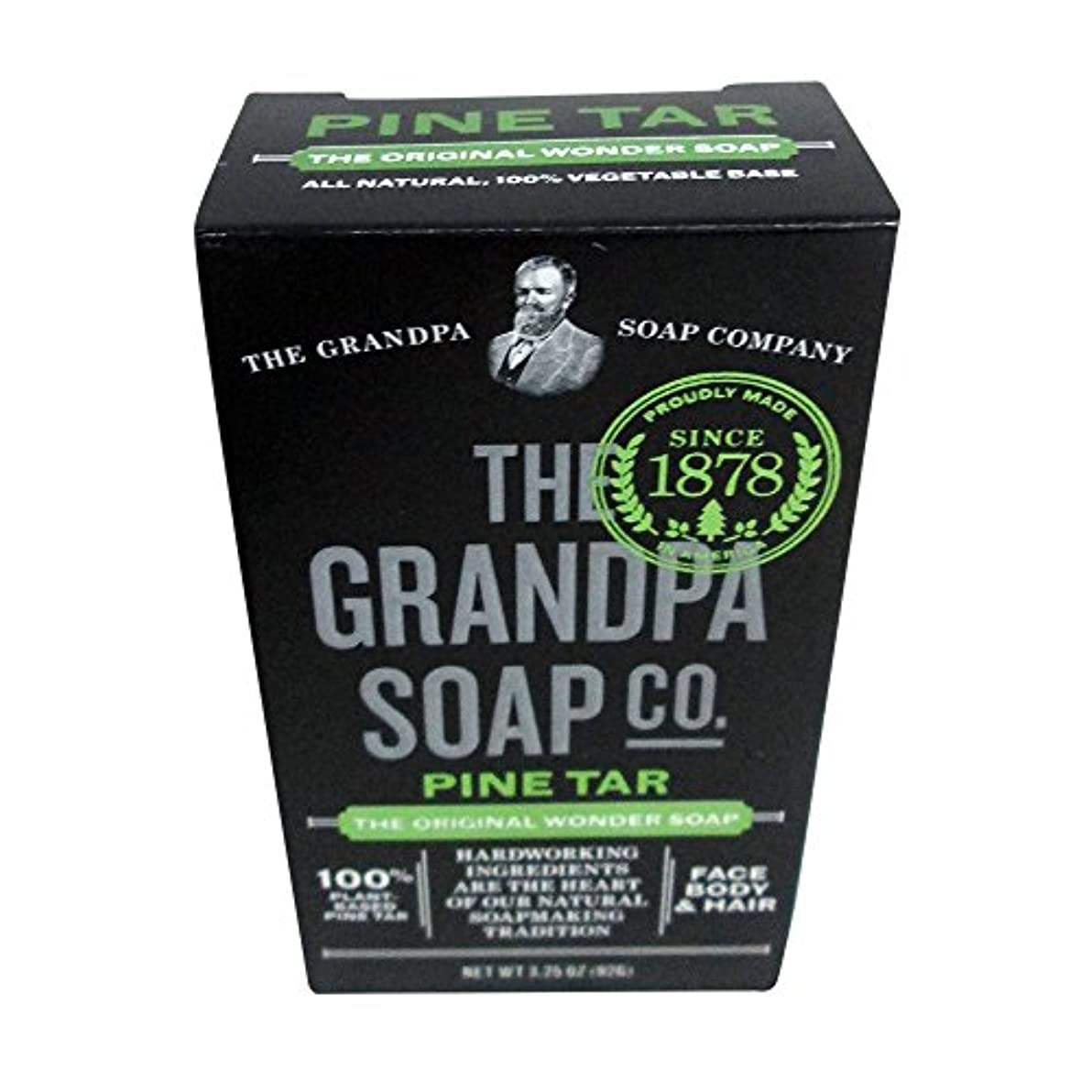 ほこりっぽいウイルス化石Pine Tar Soap - 3.25 oz Bar (6 Pack) by Grandpa's