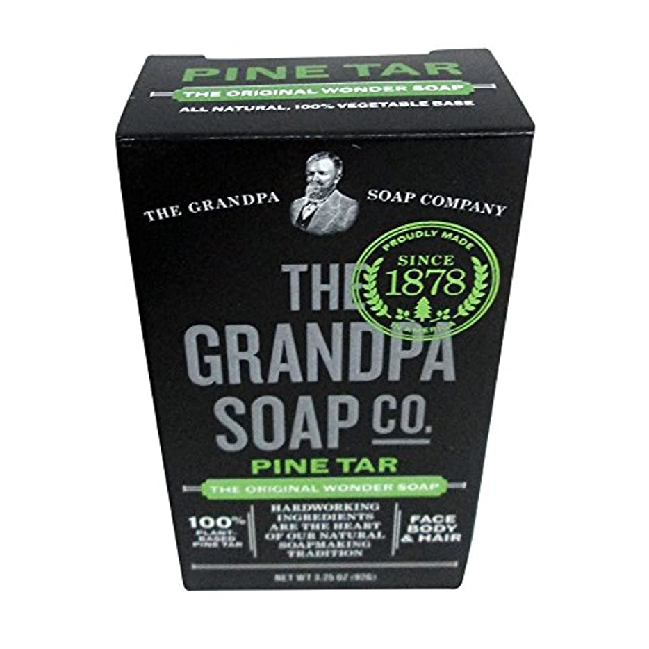 コンバーチブルミサイルエーカーPine Tar Soap - 3.25 oz Bar (6 Pack) by Grandpa's