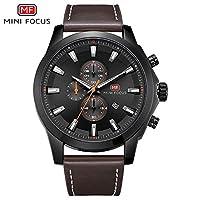 QTMIAO 美しいmini focus時計 MINI FOCUS/カレンダー発光ペンダントクォーツ時計ベルト付メンズ腕時計 (Color : 3)