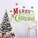amzmonnsuta ウォールステッカー クリスマス 飾り スノーフレーク Merry Christmas 壁ステッカー お店 窓 装飾