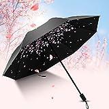 uvistar 折り畳み傘 手動開閉 撥水加工 抗風 晴雨兼用 桜の花びら 和風 遮光遮热 紫外線 UVカット 8本骨 収納ケース付