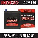 INDIGOバッテリー 42B19L キャリー【型式GD-DA52T H13.02~H13.09 F6A(SOHC)エンジン 寒冷地仕様車除く AT】