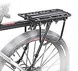 自転車 荷台 後付け リアキャリア シートポスト 最大積載容量25Kg ロードバイク マウンテンバイク