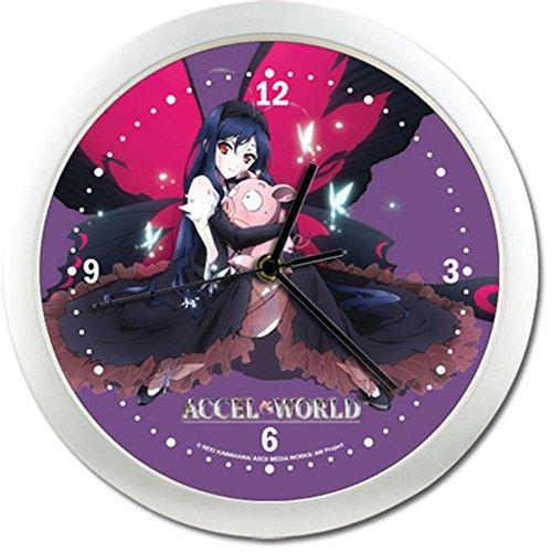 アクセル・ワールド 黒雪姫&有田春雪(ピンクの豚) 壁掛け時計 クロック 直径約25cm 並行輸入品
