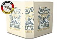 バインダー 2 Ring Binder Lever Arch Folder A4 printed Hawaii surfing