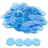 プラスチック非磁性Bingo Chips – ブルー – 100 Bingo Chips – 7 / 8インチサイズ