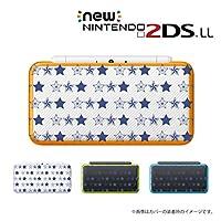 New ニンテンドー 2DS LL 対応 ハード カバーケース 【星1】 star 総柄 シンプル