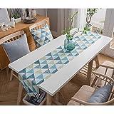 テーブルランナー、コットンとリネンの格子モダンシンプルで丈夫なダイニングテーブルキッチンコーヒーテーブルのリビングルームの装飾 (Size : 35*220cm)