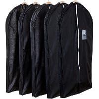 アストロ マチ付スーツ用カバー ブラック 5枚組 湿気?ホコリ?カビ対策 洋服カバー 厚手のものやシルエットの気になるフォーマルの保管に最適 110-45