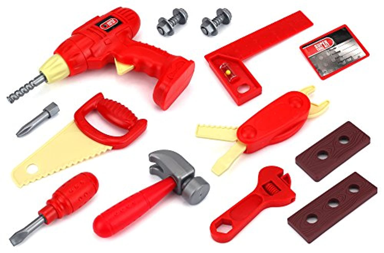 スーパーツールコレクションごっこ遊び子供のおもちゃツールPlayset , Perfect for your Little Handy Man