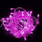 【ノーブランド品】イルミネーションLEDライト カラー:ピンク【全長8M】LED100灯 点灯8パターン・コントローラ付・最大10個(最長80m)まで連結可能