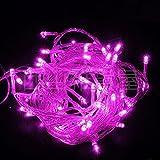 Amazon.co.jp【ノーブランド品】イルミネーションLEDライト カラー:ピンク【全長8M】LED100灯 点灯8パターン・コントローラ付・最大10個(最長80m)まで連結可能
