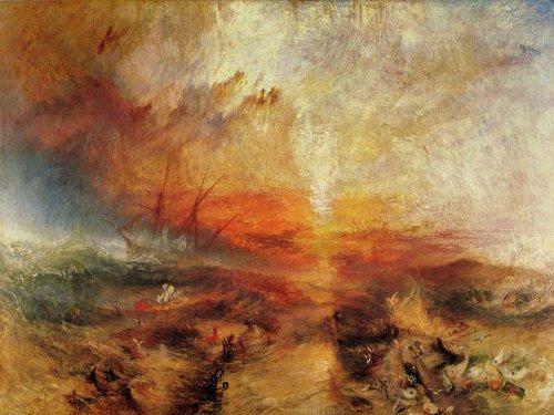 ターナー・「奴隷船」 プリキャンバス複製画・ ギャラリーラップ仕上げ(8号サイズ)